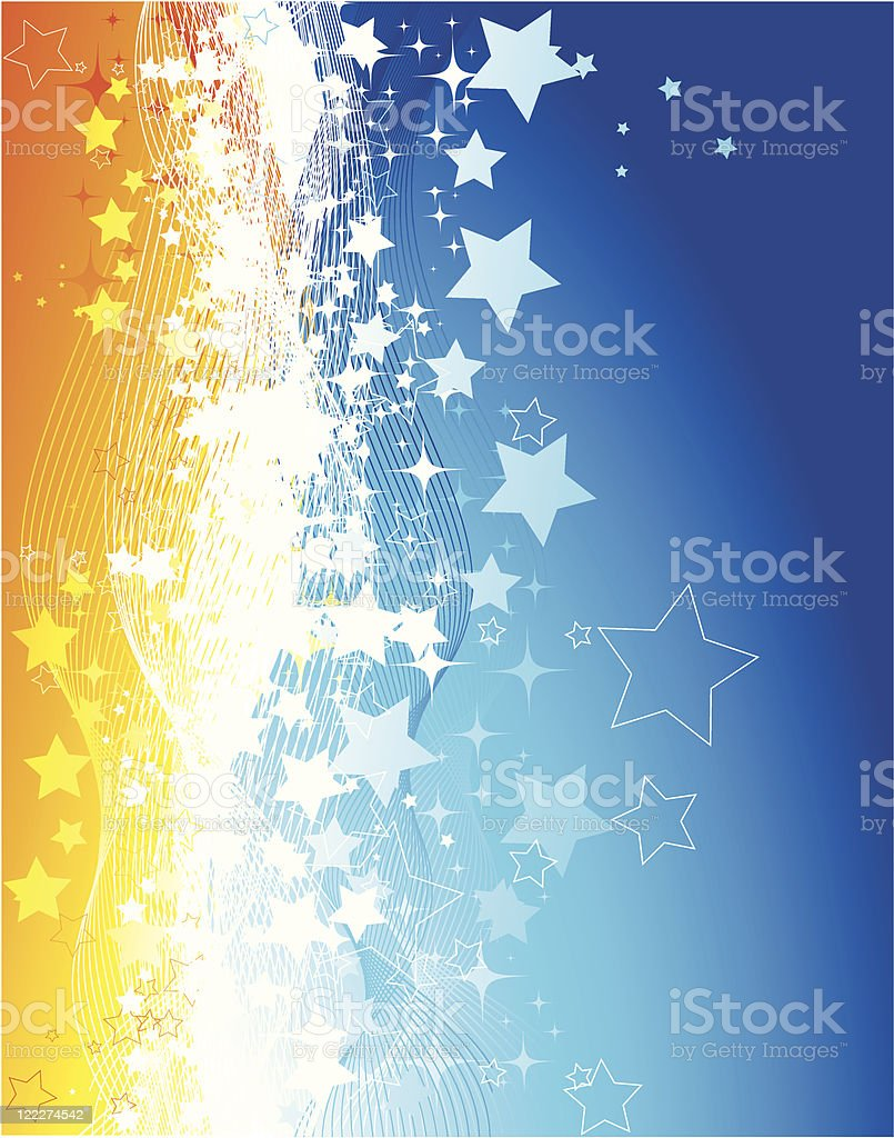Abstract blue/orange background royalty-free stock vector art