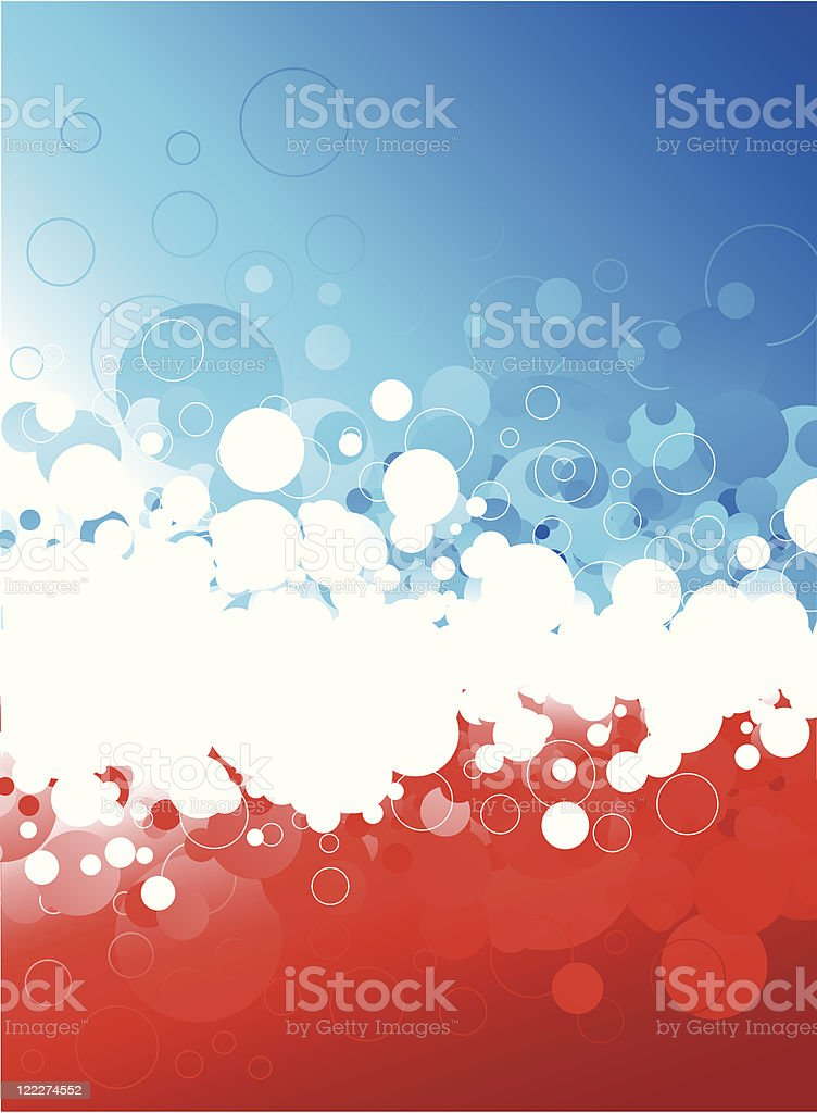 Abstract blue/red background royalty-free stock vector art