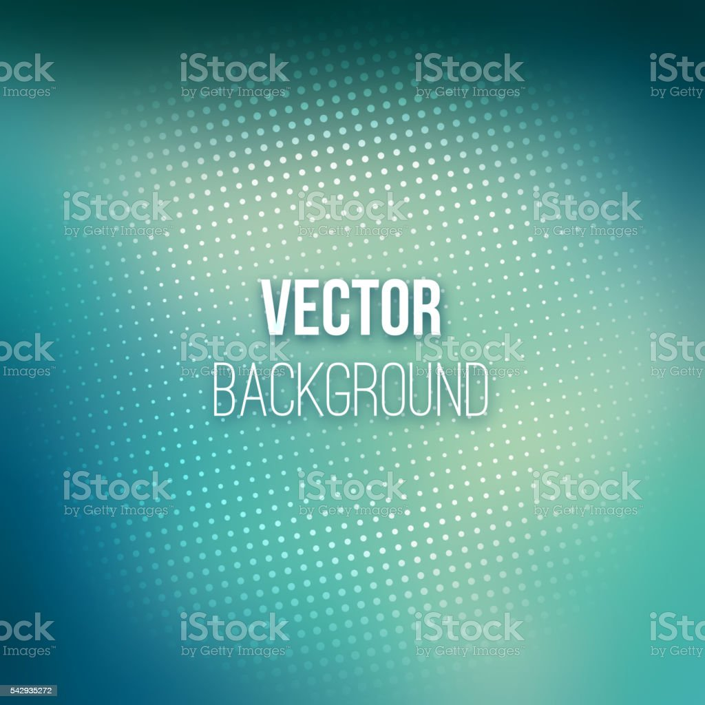 Abstract Blurred Background With Halftone Effect vector art illustration