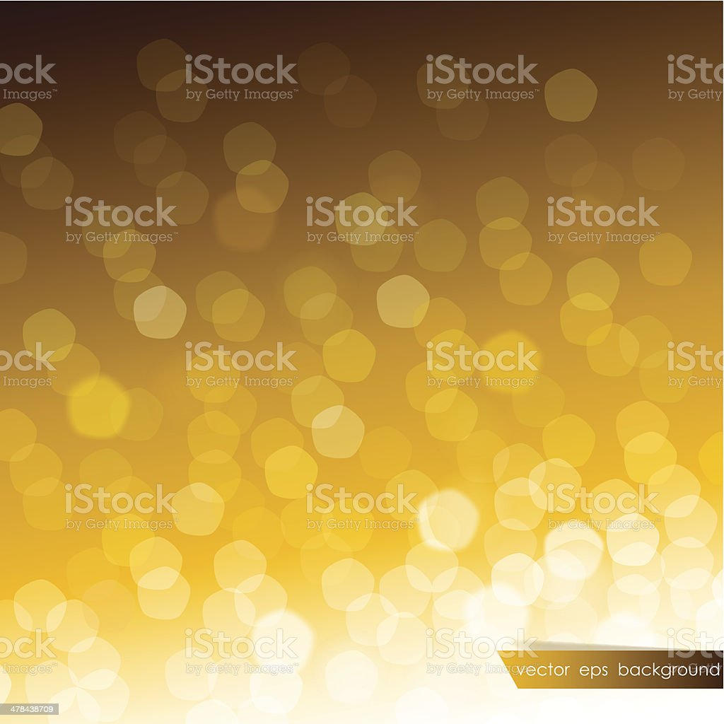 Abstract blurred golden background royalty-free stock vector art