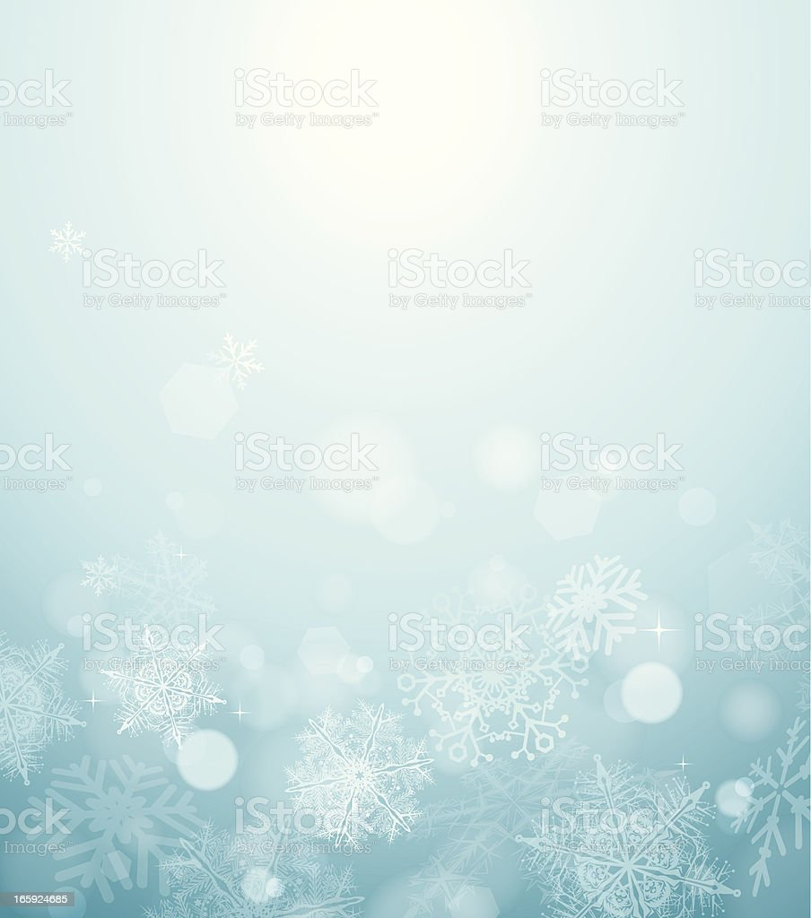 Abstract blurred snow background royalty-free stock vector art