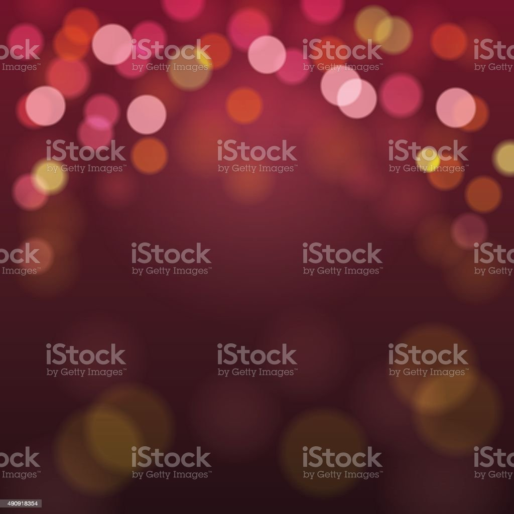 Abstract Blurry Background with Bokeh Defocused Lights vector art illustration