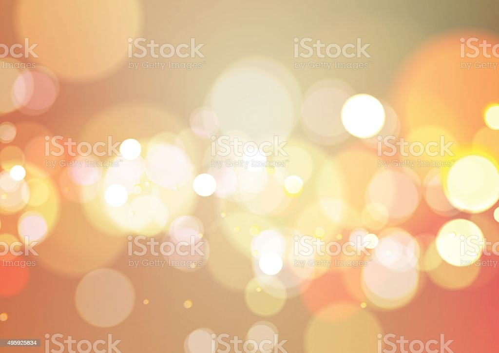Abstract Bokeh Light Vintage Background vector art illustration
