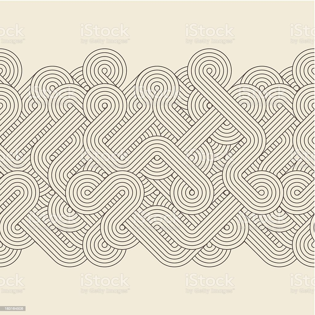 Abstract border vector art illustration