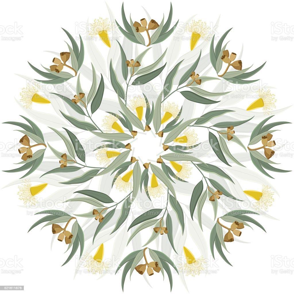 Abstract botanical nature ornament vector art illustration