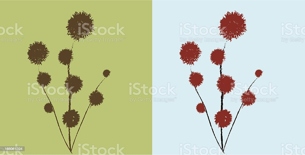 Abstract bouquet royalty-free stock vector art