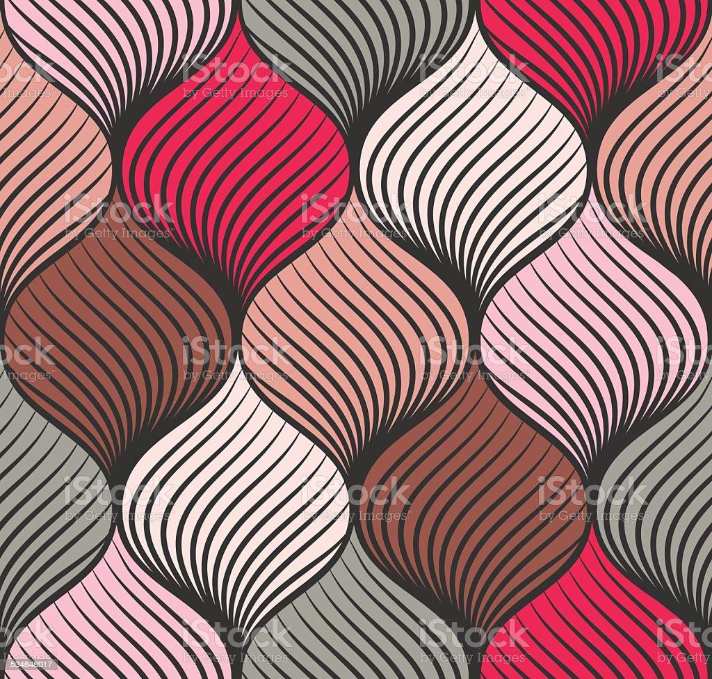 Abstract braid seamless pattern vector art illustration
