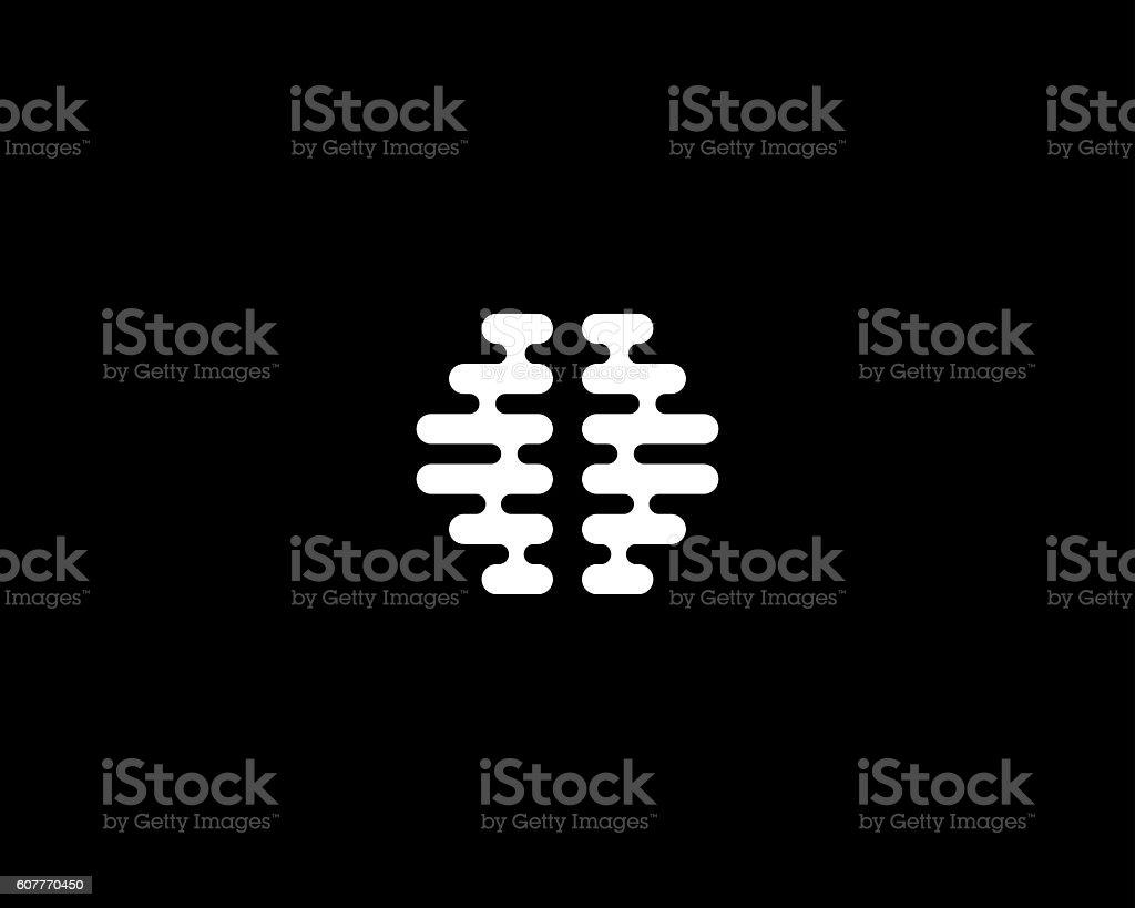 Abstract brain logo generate idea design template. Universal medical education vector art illustration