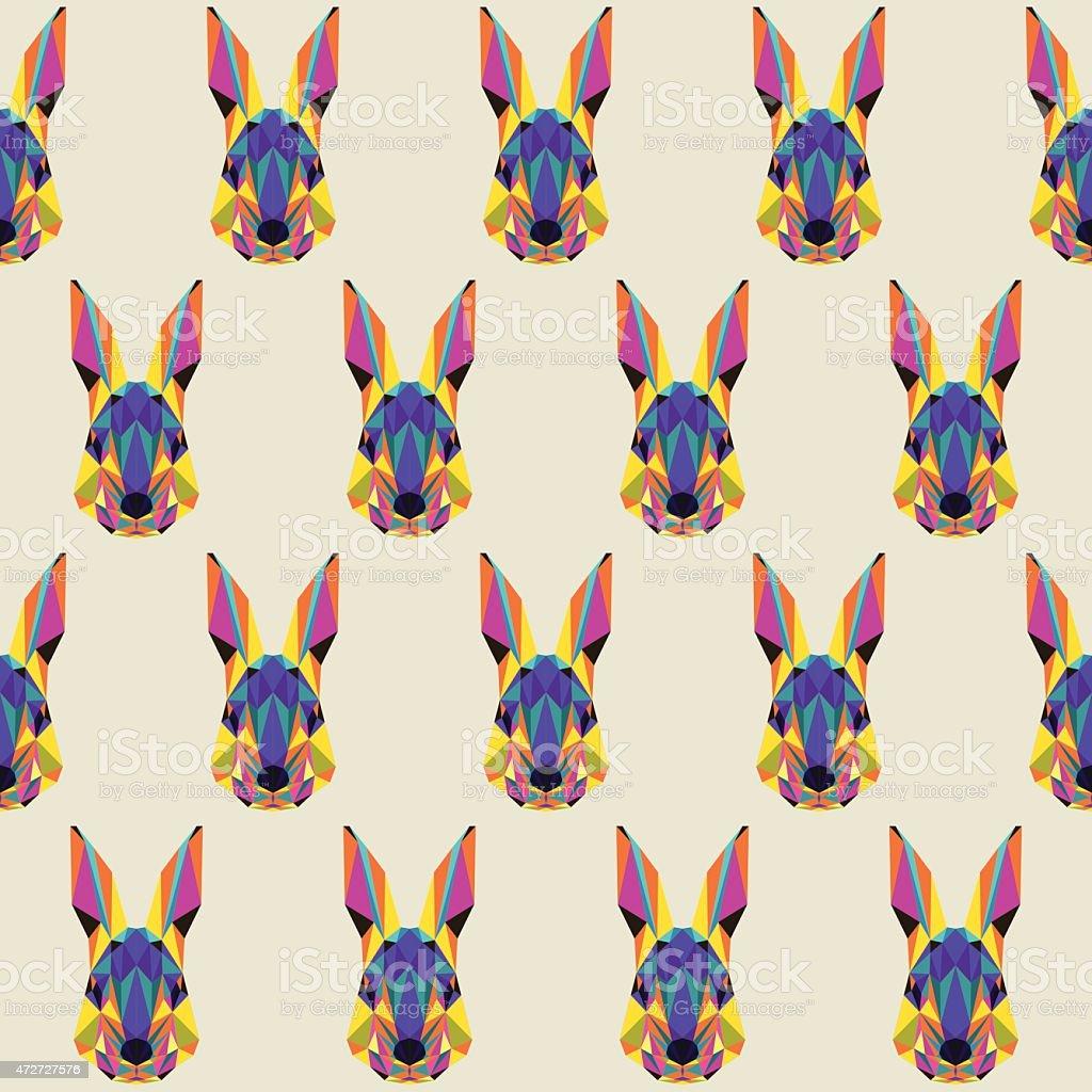 Abstract Polygonal Triangle Color Brillante Conejo Patrón Sin ...