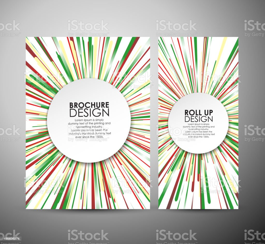 Abstract brochure business design template or roll up. vector art illustration