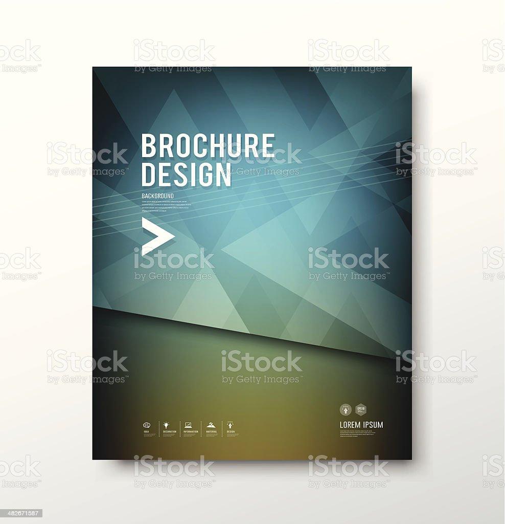 Abstract brochure cover design vector illustration vector art illustration
