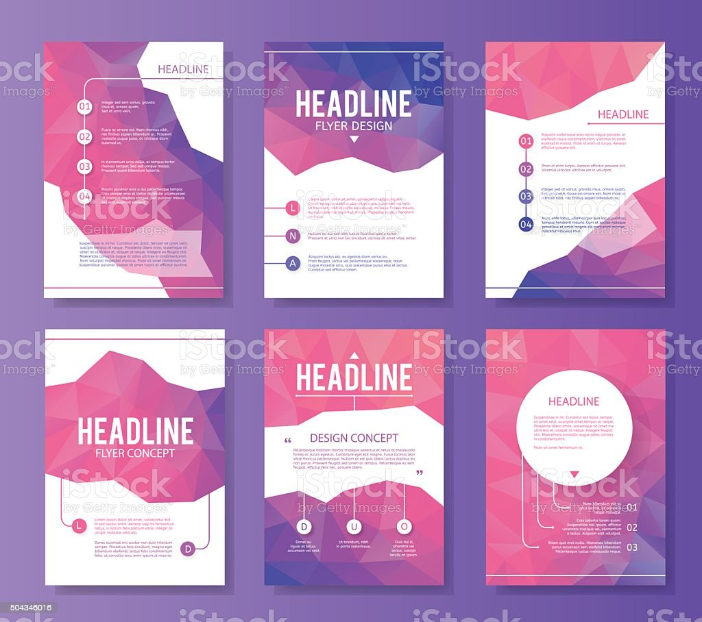 Abstract brochure or flyer design template vector art illustration