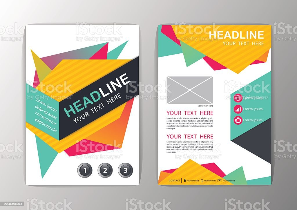 Abstract Brochure Template Business Geometric Corporate Background