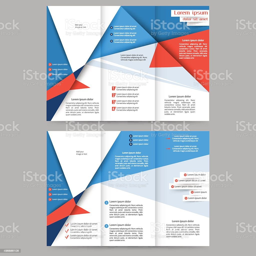 Abstract brochure template vector art illustration