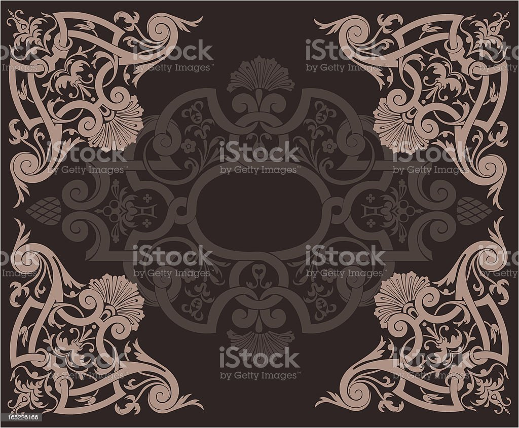 Abstract Brown Ornate Background royalty-free stock vector art