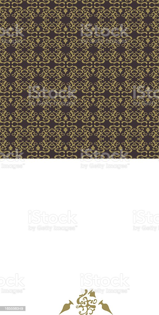 Abstract Brown Pattern royalty-free stock vector art