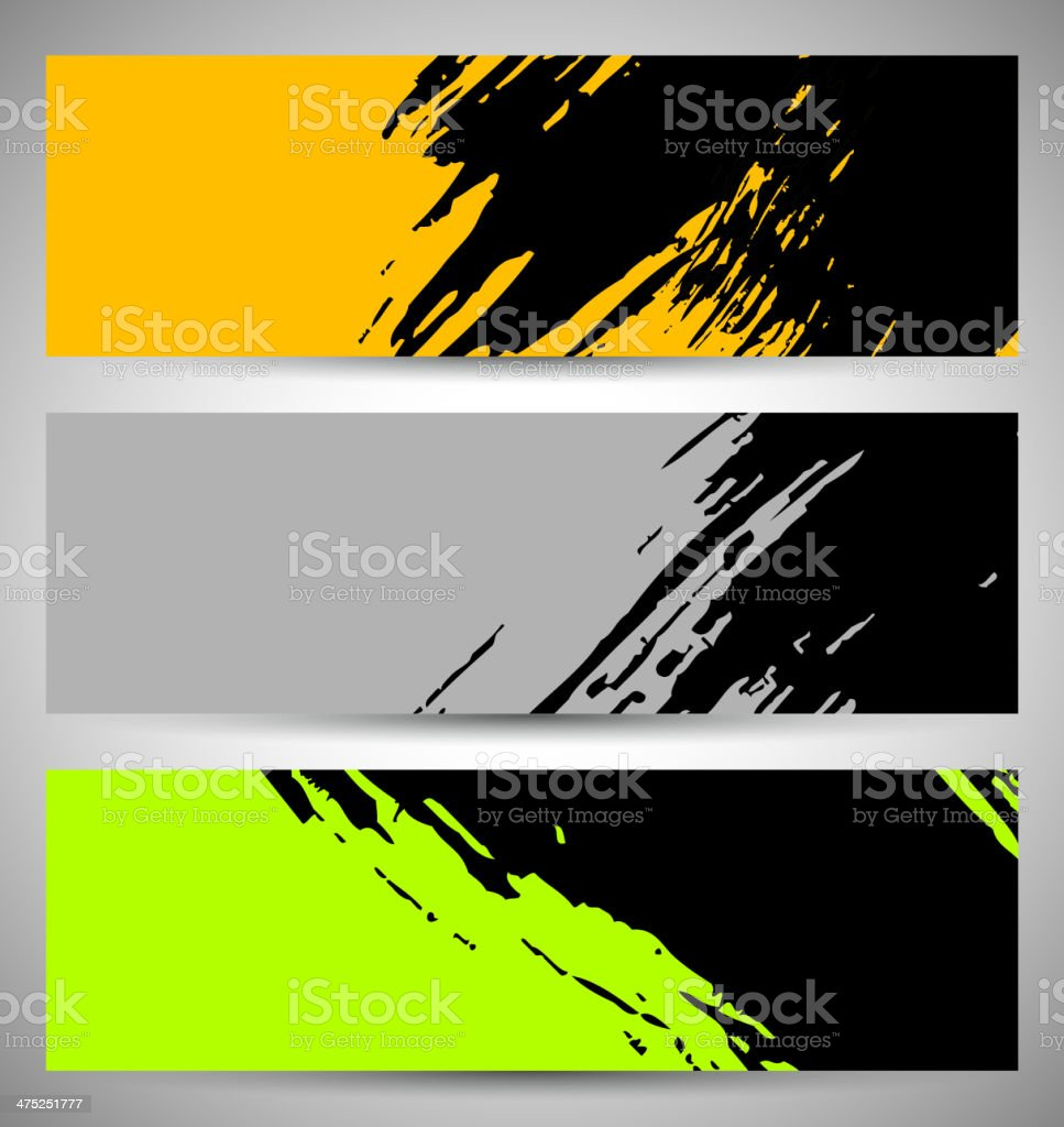 abstract brush pattern banner background royalty-free stock vector art