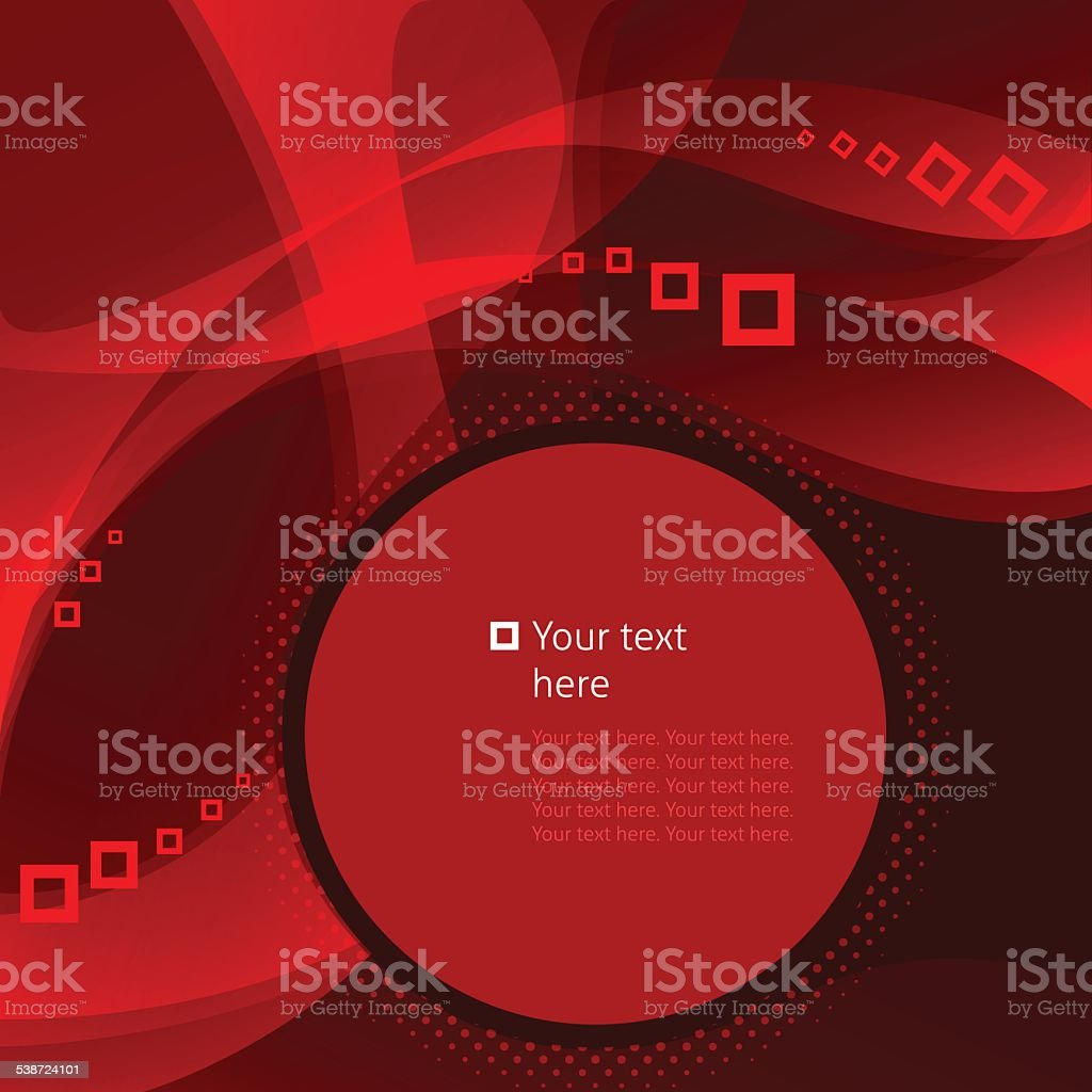 Abstract business background with lineas and squares vector art illustration