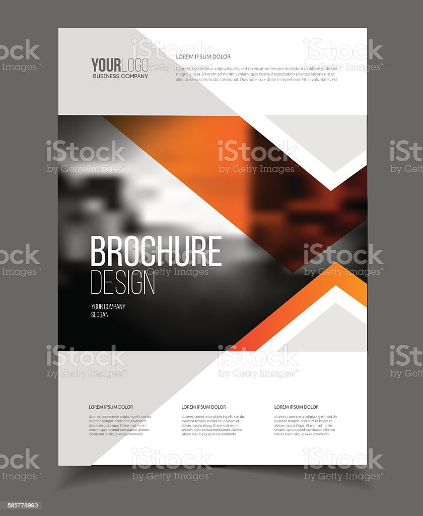Abstract business Flyer design vector template in A4 size. Docum royalty-free stock vector art