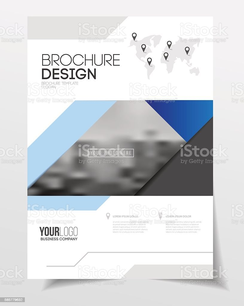 abstract business flyer design vector template in a4 size docum の