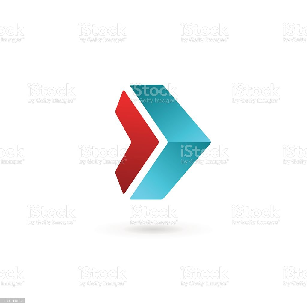 Abstract business icon design template with arrow vector art illustration
