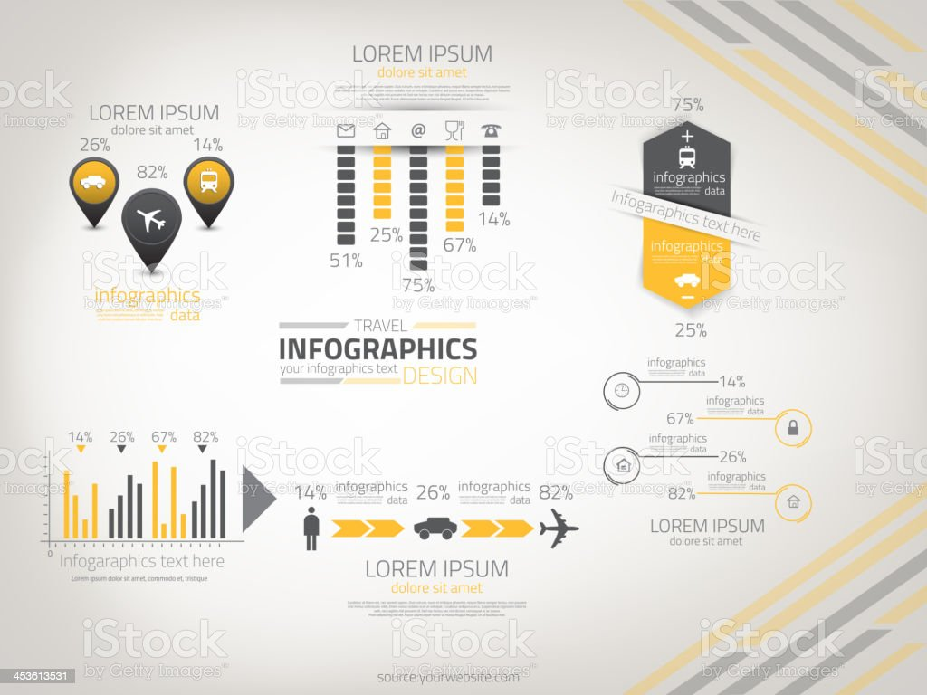Abstract business infografics. vector royalty-free stock vector art