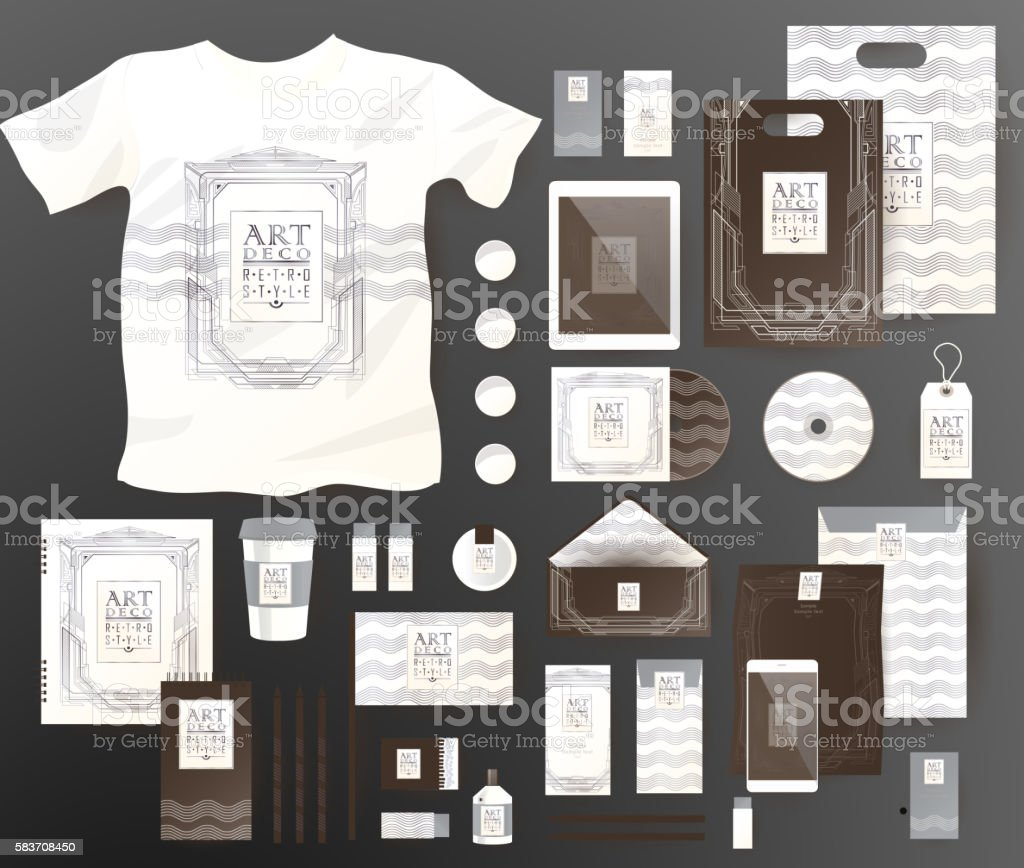 Abstract  business set. Corporate identity templates vector art illustration