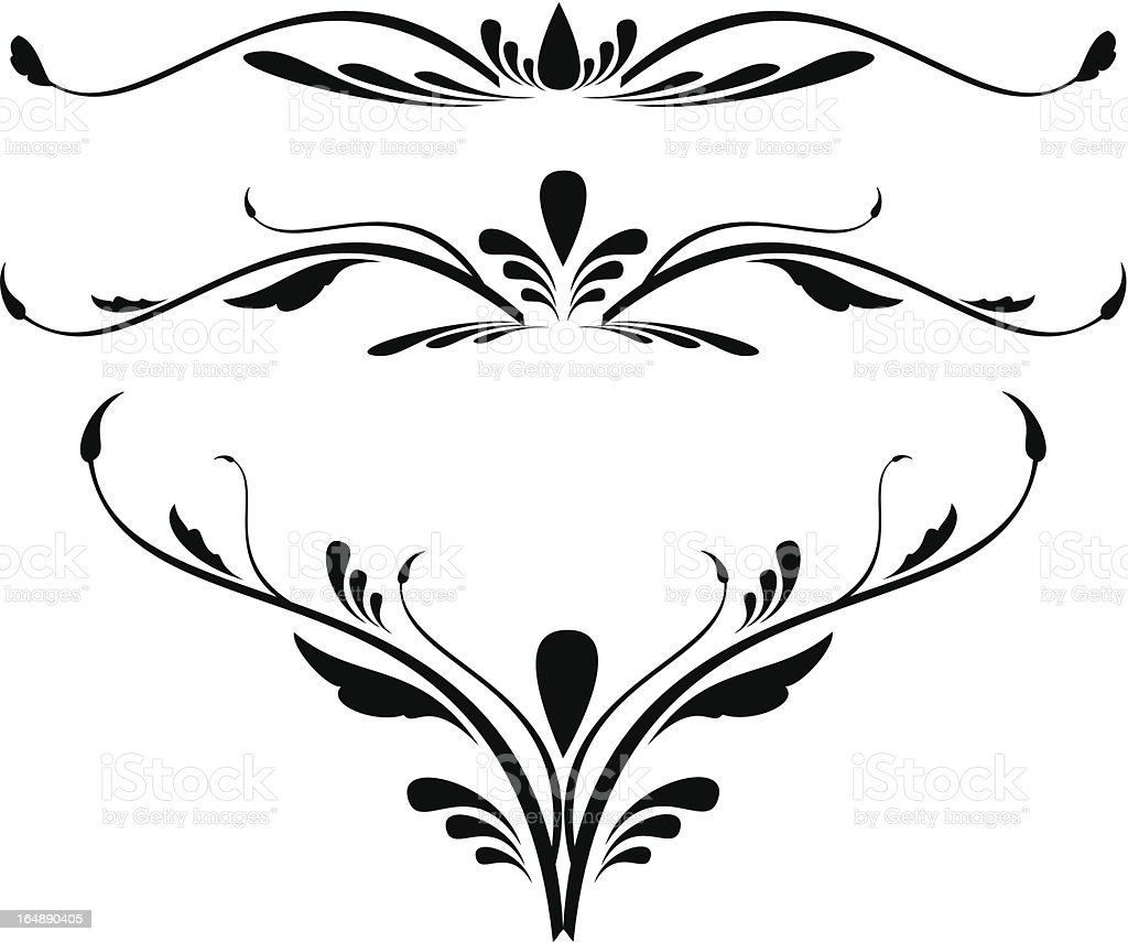 abstract calligraphy decorative royalty-free stock vector art