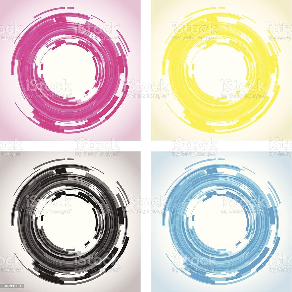 abstract camera lens vector art illustration