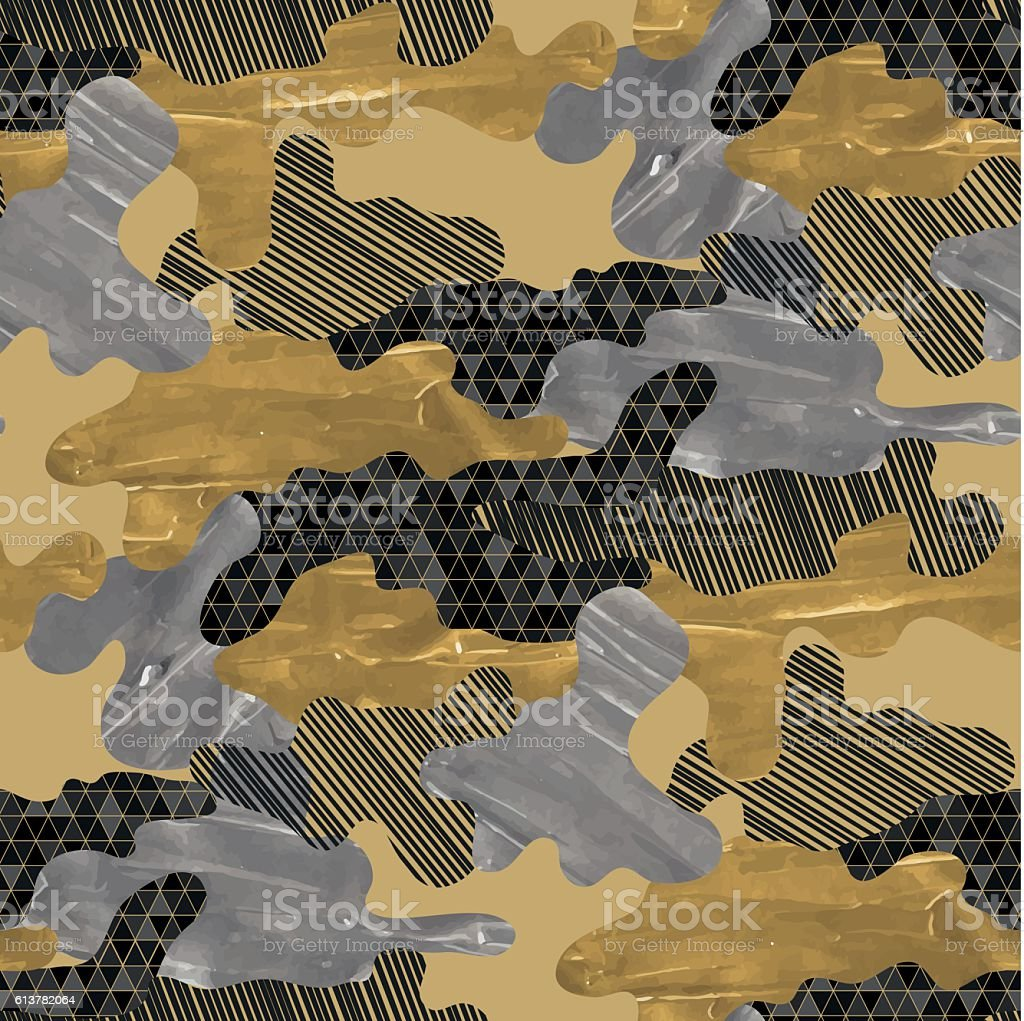 Abstract camouflage pattern vector art illustration