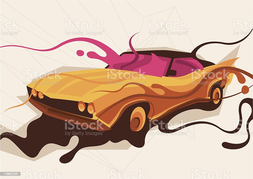 Abstract car illustration. royalty-free stock vector art