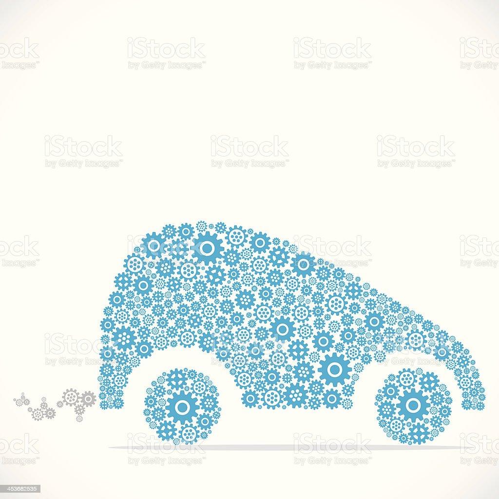 abstract car vector art illustration