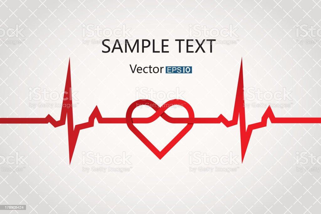 Abstract cardiogram vector art illustration