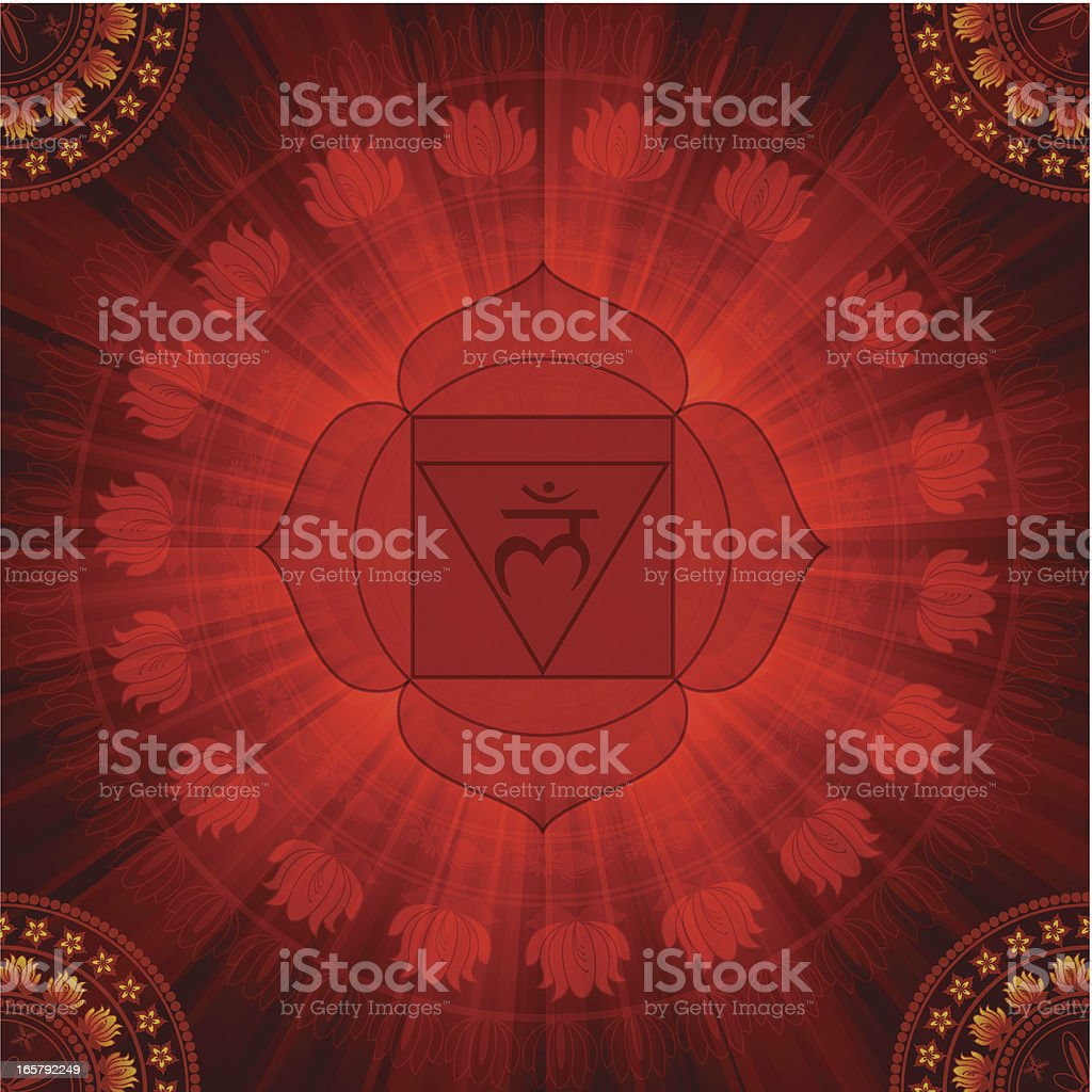 Abstract Chakra Design royalty-free stock vector art