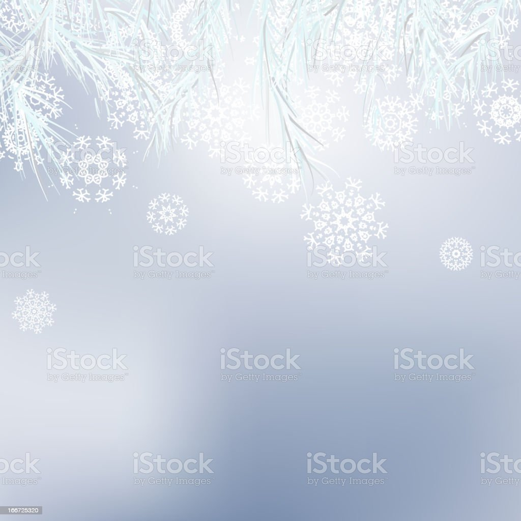 Abstract Christmas background snowflakes. + EPS8 royalty-free stock vector art