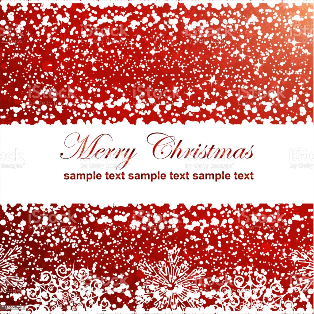 Abstract Christmas background with white snowflakes royalty-free stock vector art