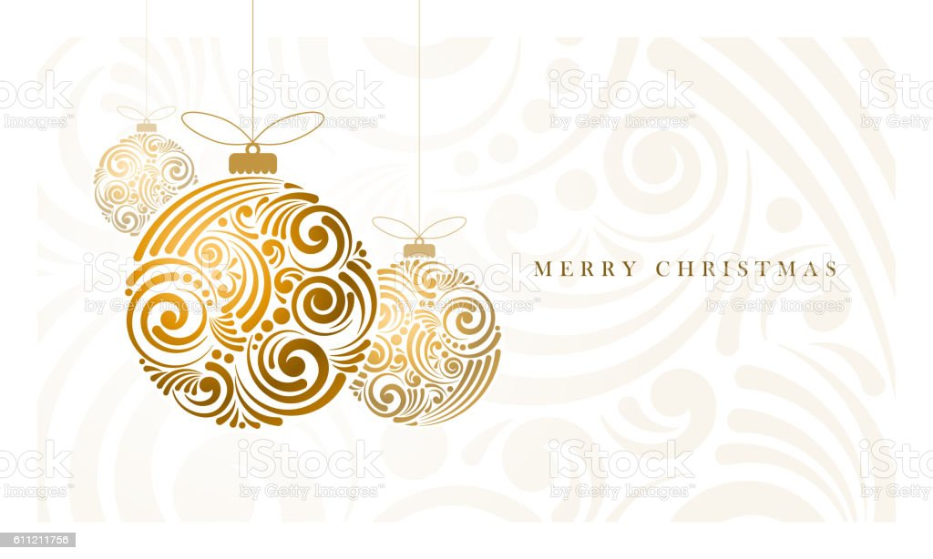 Abstract Christmas Balls vector art illustration