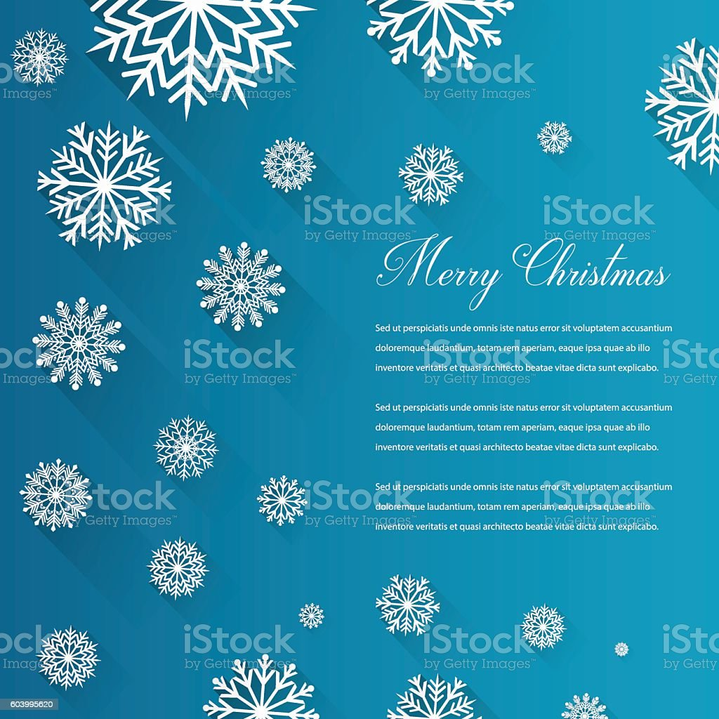 Abstract Christmas card with snowflakes and wishing text. Vector royalty-free stock vector art
