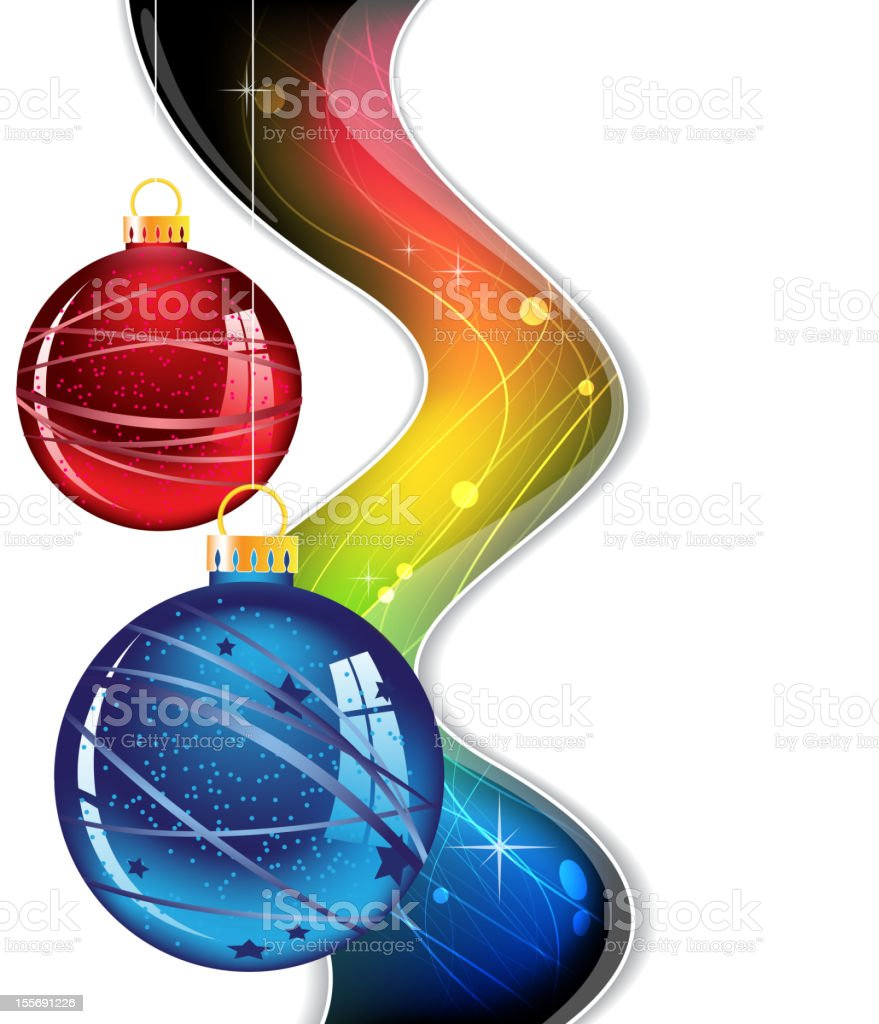Abstract Christmas decorations royalty-free stock vector art