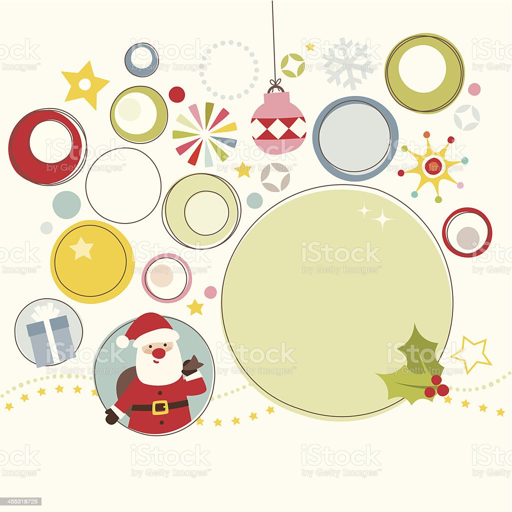 Abstract Christmas design vector art illustration