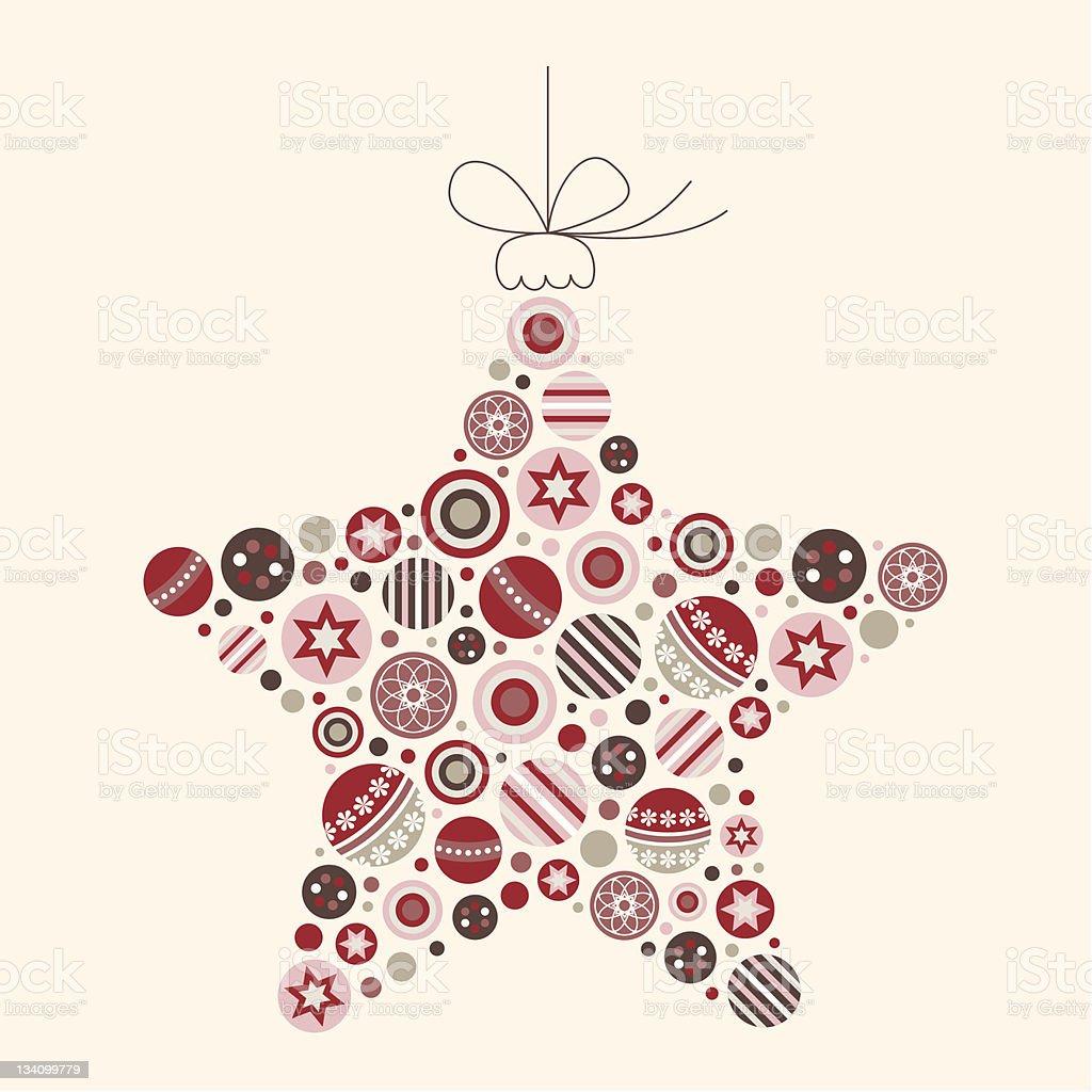 Abstract Christmas Star Vector Illustration vector art illustration