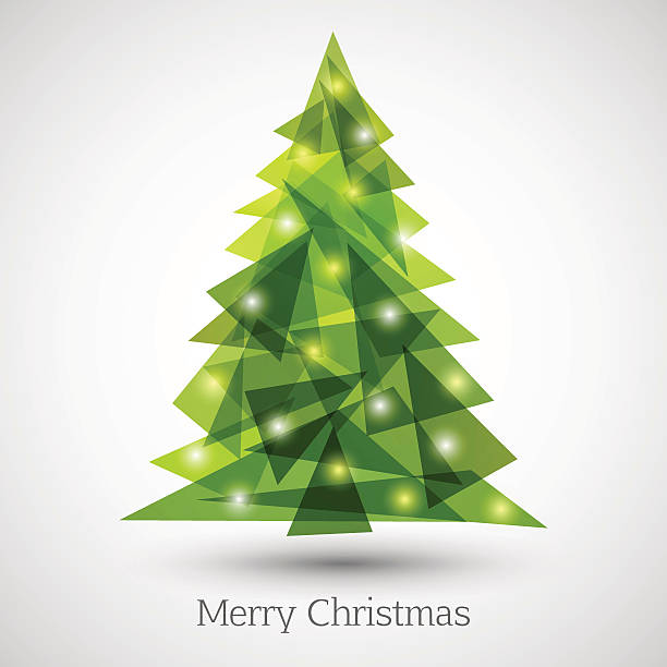 Modern Christmas Tree Clip Art, Vector Images ...