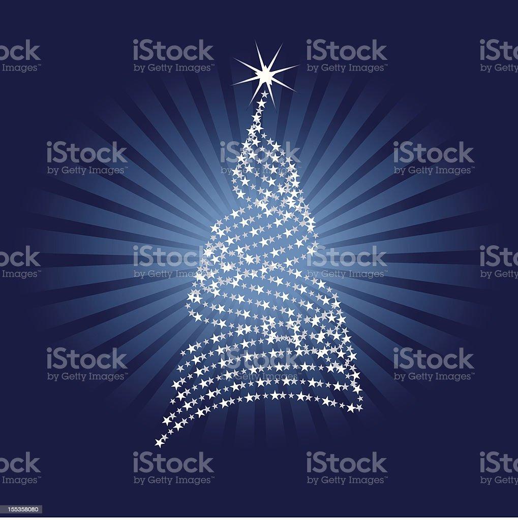 Abstract Christmas Tree vector art illustration