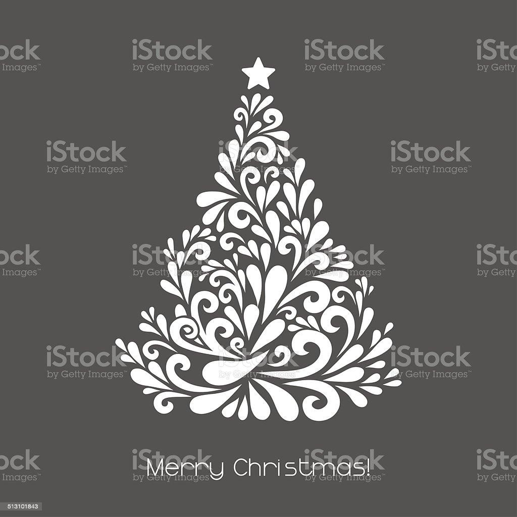 Abstract Christmas tree. vector art illustration