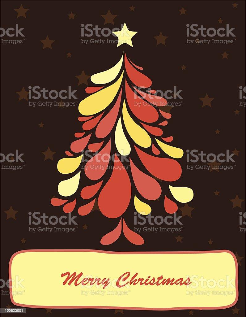 Abstract christmas tree. Vector royalty-free stock vector art
