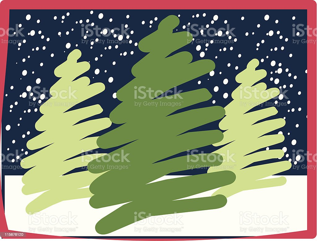 Abstract Christmas Trees royalty-free stock vector art