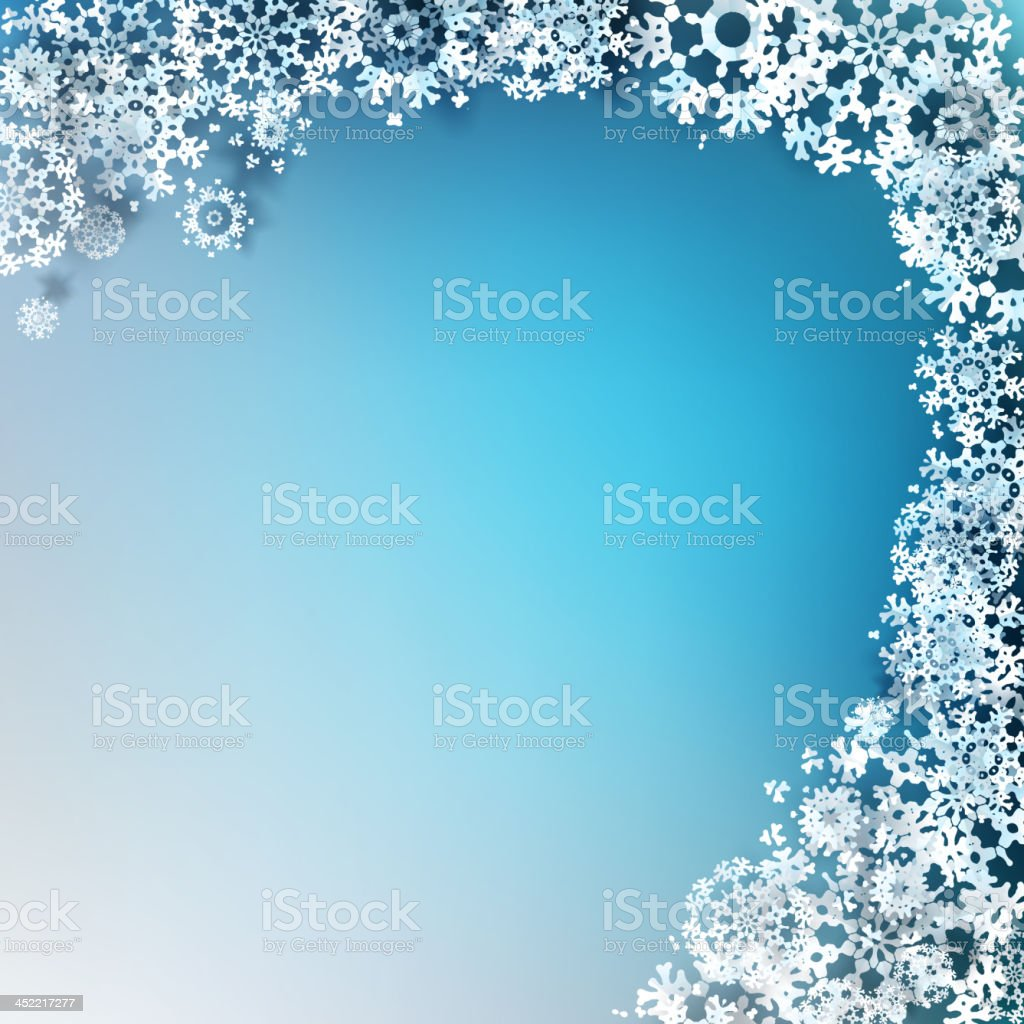 Abstract Christmas with snowflakes. EPS 10 royalty-free stock vector art
