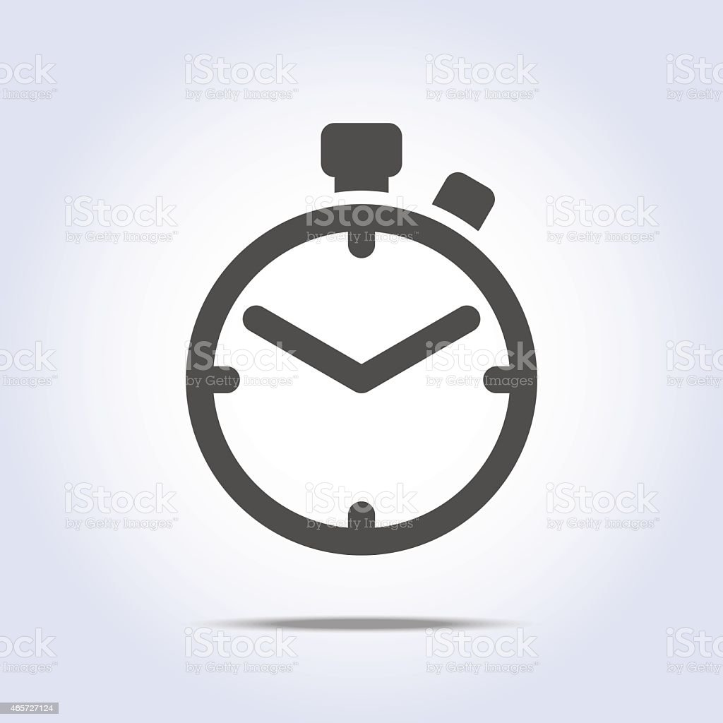Abstract chronometer icon gray color vector art illustration