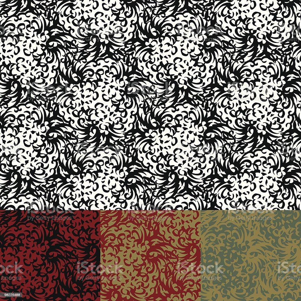Abstract Chrysanthemum Wallpaper royalty-free stock vector art