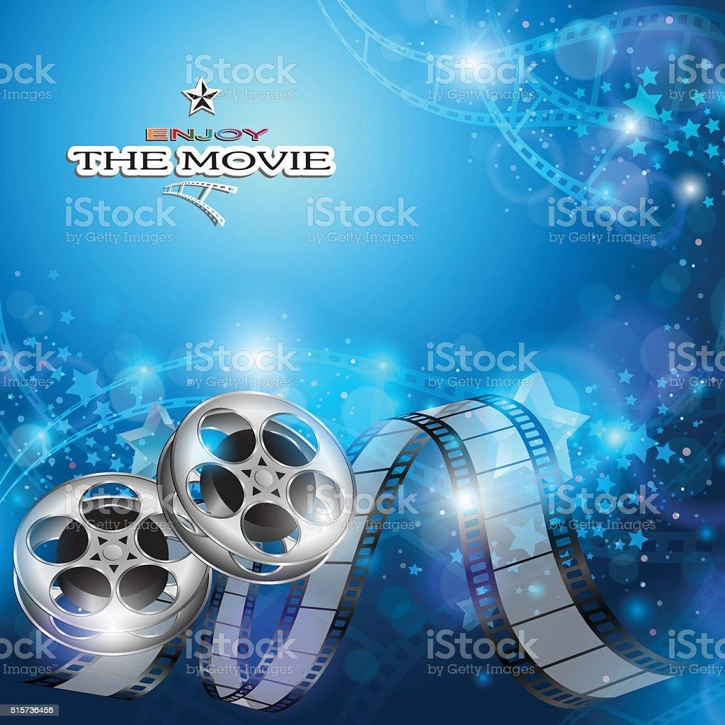 Abstract Cinema Background vector art illustration